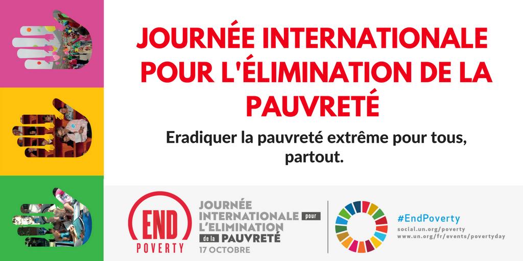 Resultado de imagem para 17 octobre journée pour l'élimination de la pauvreté 2018