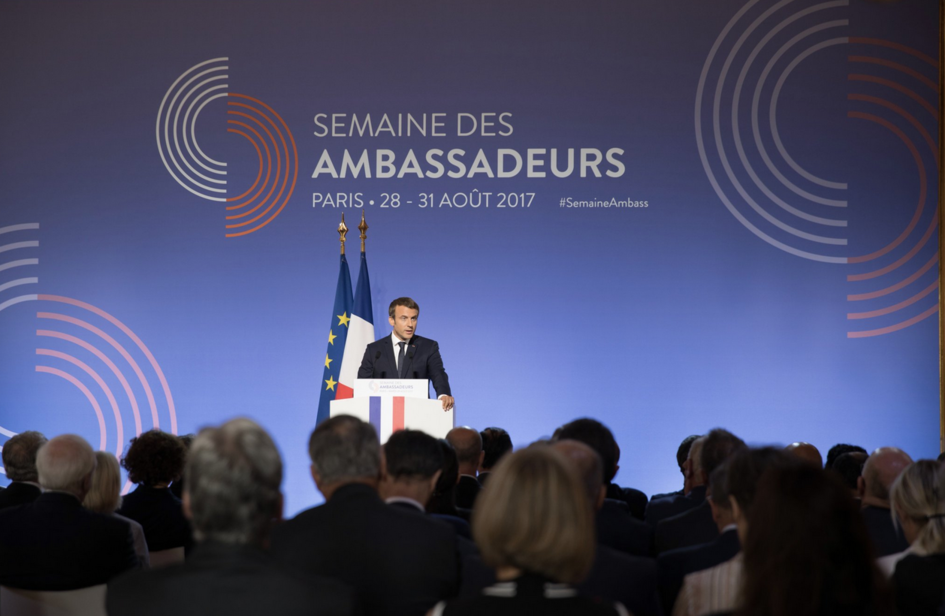 Speech by President E  Macron for a global french diplomacy - France ONU